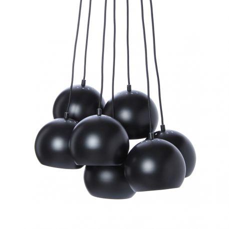 Frandsen Ball Multi lysekrone m. 7 pendler - Mat sort