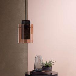 Frandsen Cora pendel - Bronze glas/Sort