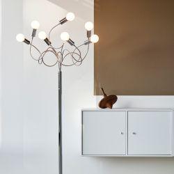 Herstal String gulvlampe - Krom