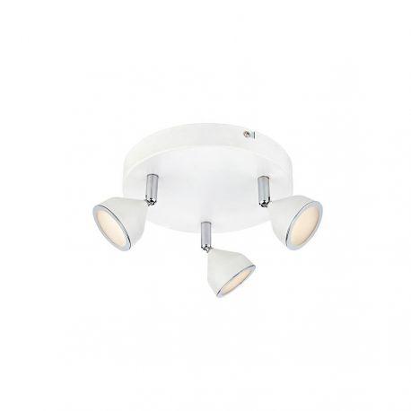 Markslöjd Bell rondel loftlampe m. 3 spots
