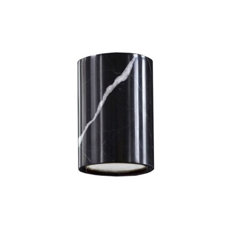 Terence Woodgate SOLID Cylinder Downlight - Nero Marquina marmor
