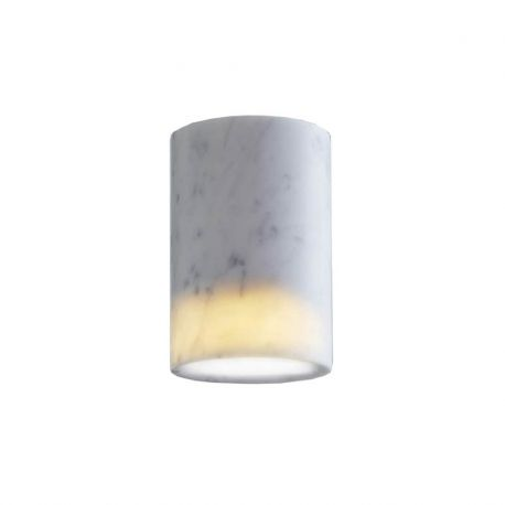 Terence Woodgate SOLID Cylinder Downlight - Carrara marmor