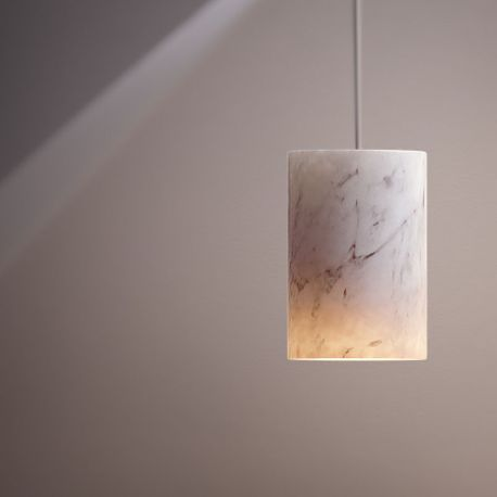 Terence Woodgate SOLID Cylinder Pendel - Carrara marmor