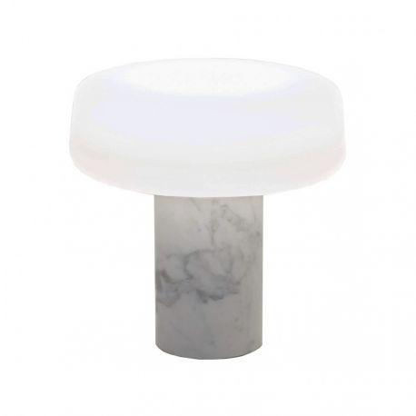 Terence Woodgate SOLID Bordlampe - Carrara marmor
