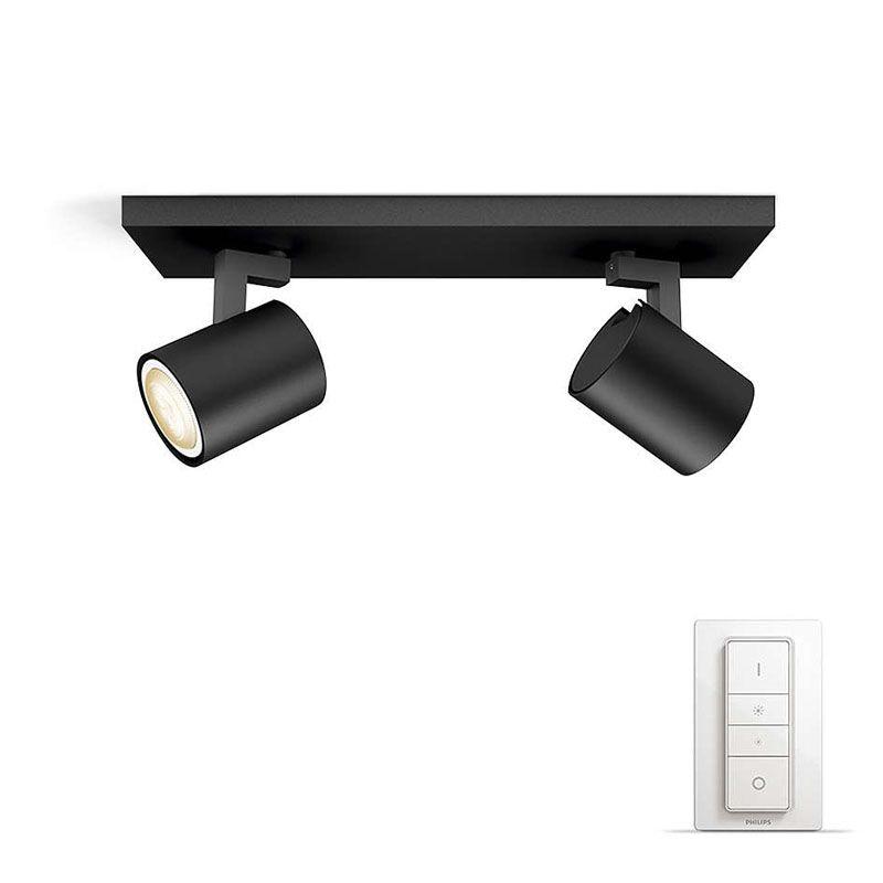 philips hue connected runner 2 spot sort lys. Black Bedroom Furniture Sets. Home Design Ideas