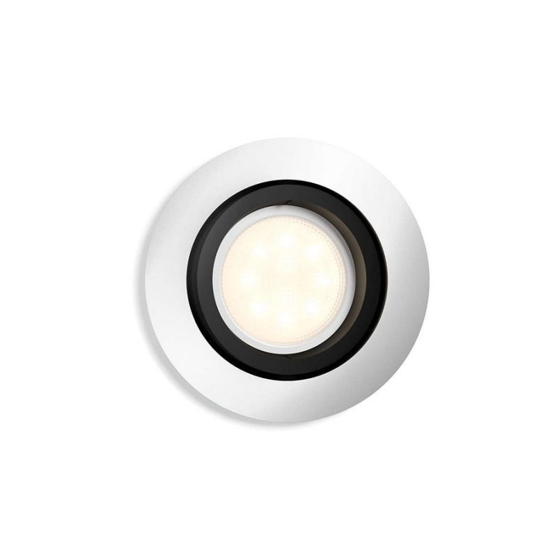 philips hue milliskin round indbygningsspot aluminium lys. Black Bedroom Furniture Sets. Home Design Ideas