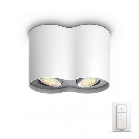 Philips Hue Pillar Dual Spot - Hvid