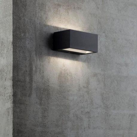 Massivt Nene LED udendørs væglampe - Sort - Lys-Lamper.dk XF06