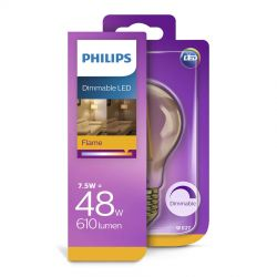 Philips LED Classic Filament Gold 7,5W (48W) Dæmpbar E27
