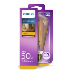 Philips LED Classic Filament Gold 7W (50W) Dæmpbar E27