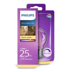 Philips LED Classic Filament 2,7W (25W) Dæmpbar E27