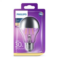 Philips LED Filament Topforspejlet 3,5W (30W) Varm hvid E27