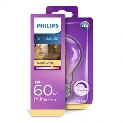 Philips LED Classic Filament 8W (60W) Dæmpbar E27