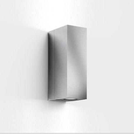 Quantum udendørs væglampe - Børstet stål