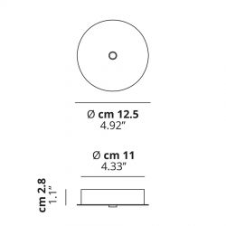 Studio Italia Design Baldakin rund (1 lampe) Ø12,5 - Hvid