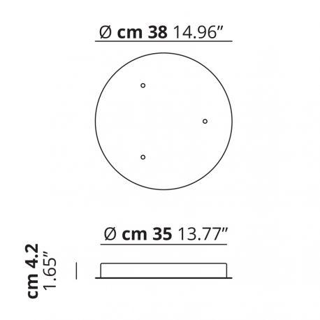 Studio Italia Design Baldakin rund klynge (3 lamper) Ø38 - Hvid