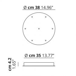 Studio Italia Design Baldakin rund klynge (7 lamper) Ø38 - Hvid