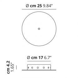 Studio Italia Design Baldakin rund (Radial op til 12 lamper) Ø25 - Hvid