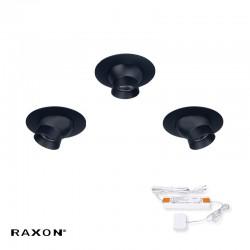 Raxon TLD12 3-Kit 1W 12V Møbelspot - Sort
