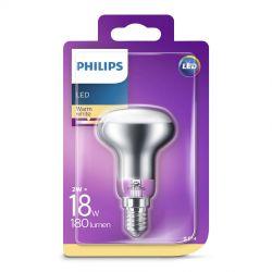 Philips LED Classic Reflektor 2W (18W) Varm hvid E14