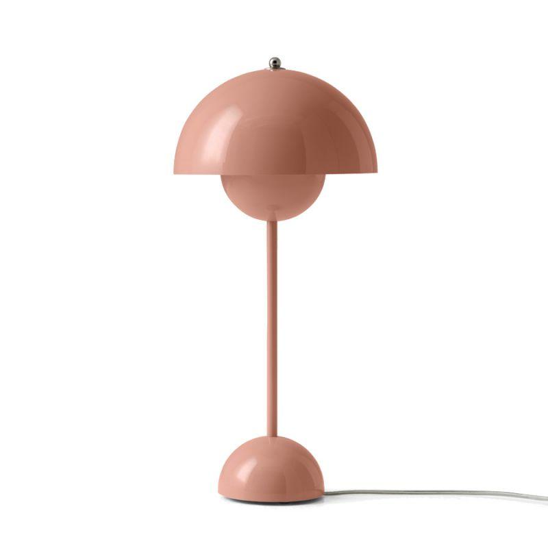 Verner Panton Flowerpot VP3 bordlampe Beige Red Lys
