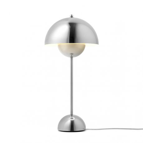 Flowerpot VP3 bordlampe - Polished Stainless Steel