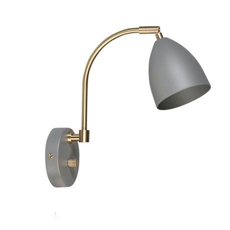 Deluxe Væglampe - Varm grå/messing