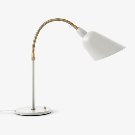 Arne Jacobsen Bellevue bordlampe AJ8 - Hvid/messing