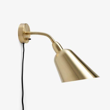 Arne Jacobsen Bellevue væglampe AJ9 - Satinpoleret messing