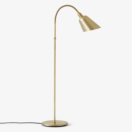 Arne Jacobsen Bellevue gulvlampe AJ7 - Satinpoleret messing