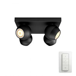 Philips Hue Buckram 4-Spot - Sort