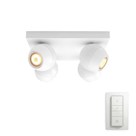 Philips Hue Buckram 4-Spot - Hvid