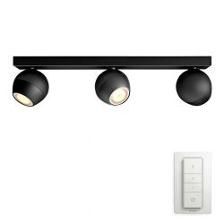 Philips Hue Buckram 3-Spot - Sort
