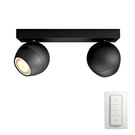 Philips Hue Buckram 2-Spot - Sort