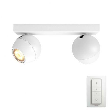 Philips Hue Buckram 2-Spot - Hvid