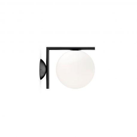 FLOS IC C/W1 væg-/loftlampe - Sort