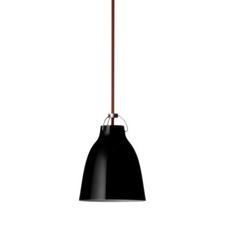 Caravaggio™ P0 pendel - Sort/rød ledning