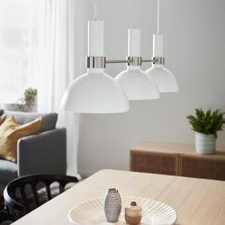 Markslöjd Larry langbordspendel - Hvid/stål
