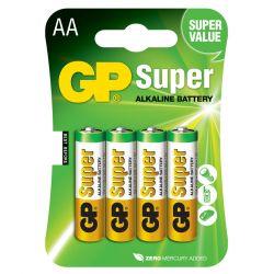 GP Super Alkaline AA Batteri / LR06 - 4 Stk