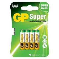 GP Super Alkaline AAA Batteri / LR03 - 4 Stk
