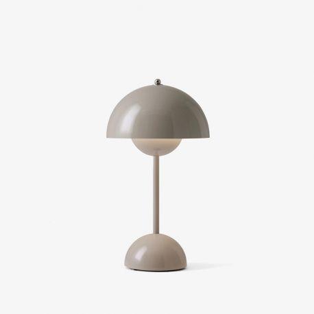 Flowerpot VP9 mini bordlampe m/batteri - Grey Beige