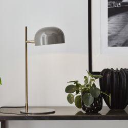 Markslöjd Pose bordlampe - Grå/børstet messing