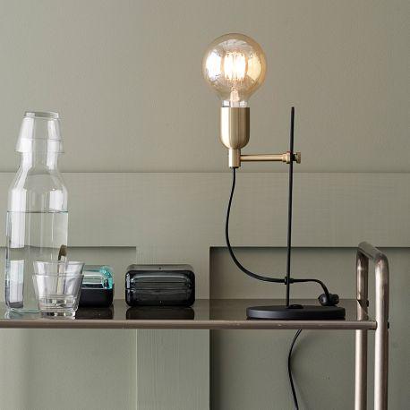 Regal bordlampe - Sort/messing