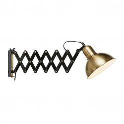 Markslöjd Riggs væglampe - Sort/antik