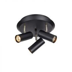 Barcelona loftlampe m/3 spots - Sort