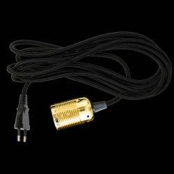 Danlamp E27 fatningssæt - Brass