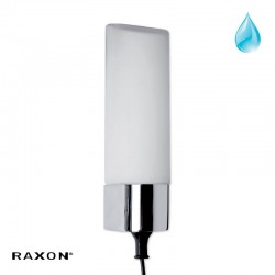 Leron 3P væglampe m/strømudtag - Krom