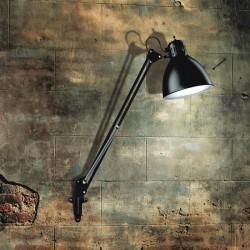 JJ M væglampe - Mat sort