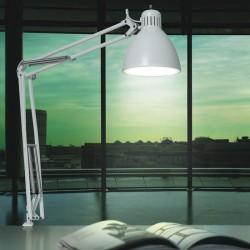 JJ Bordlampe med bordklemme - Mat hvid