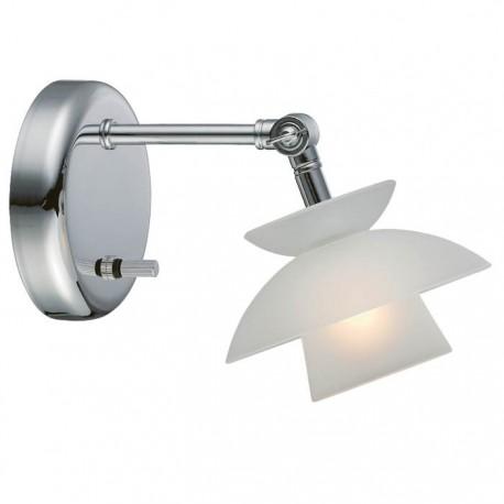 Mini Dallas væglampe m/lysdæmper - Opal glas